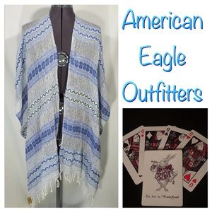 New American Eagle Outfitters Ruana Wrap Scarf